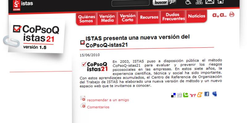 CoPsoQ istas21
