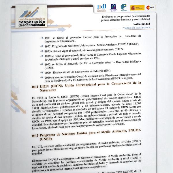 Curso de especialización en cooperación descentralizada
