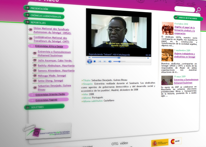 Portal del vídeos del Observatorio del Trabajo en la Globalización
