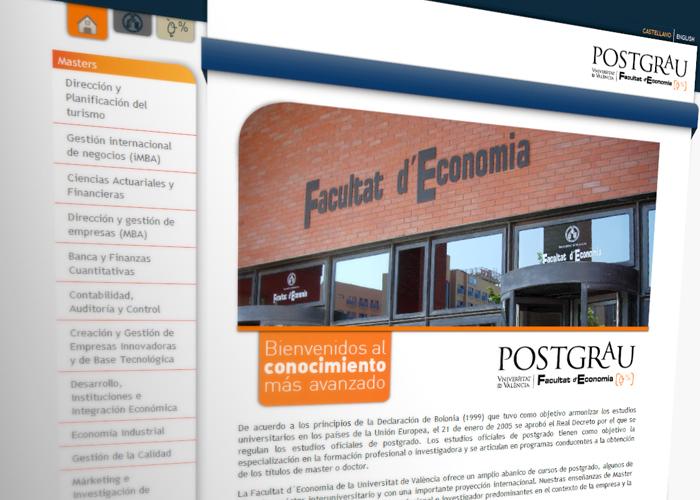 Postgrados Facultad de Economía de la Universidad de Valencia