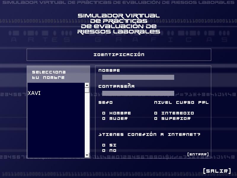 Simulador virtual de prácticas de prevención de riesgos laborales. Sector ARTES GRÁFICAS