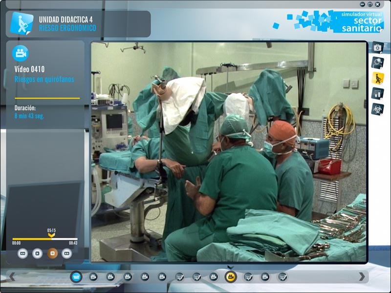Simulador virtual de prácticas de prevención de riesgos laborales. Sector SANITARIO